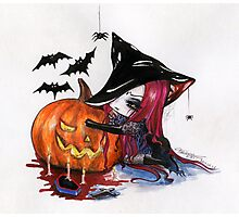 Halloween: Wicked Witch Photographic Print