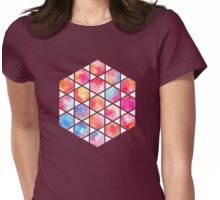 Radiant Hexagons - geometric watercolor painting Womens Fitted T-Shirt