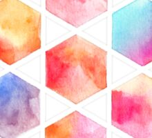 Radiant Hexagons - geometric watercolor painting Sticker