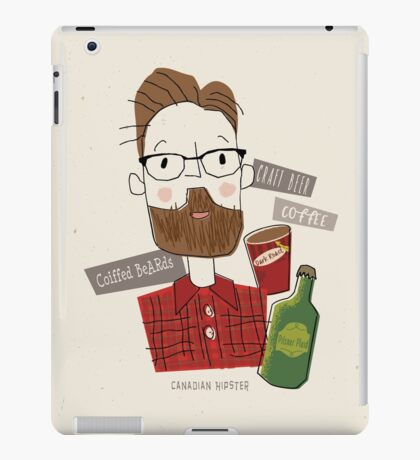 Canadian Hipster iPad Case/Skin