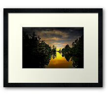 Give It Your All ~ Siltcoos River  ~ Framed Print