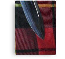 Sword & tartan Canvas Print
