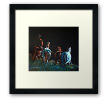 """Pickin' Up Strays"" Framed Print"