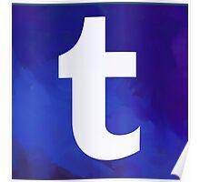 Textured Tumblr Logo Poster