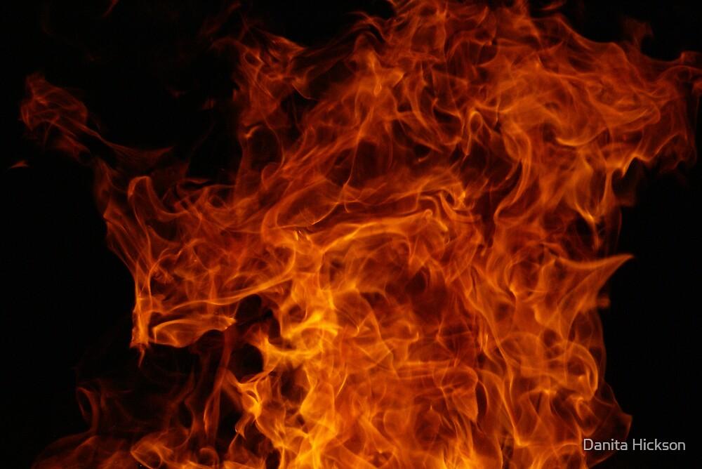 Golden Flames by Danita Hickson