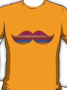 Funny Mustache Chevron Pattern T-Shirt