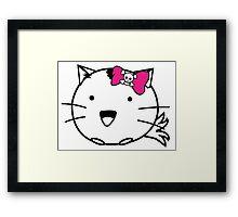 Fuzzballs Kitten Bow Framed Print
