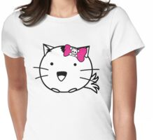 Fuzzballs Kitten Bow Womens Fitted T-Shirt