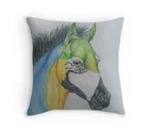 "Young Parrot Horse ""SeaSpray"" Throw Pillow"
