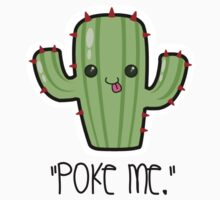 """Poke Me"" Cactus  Kids Clothes"