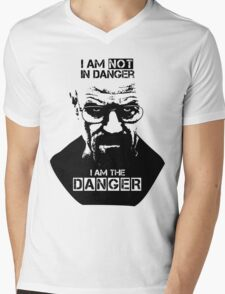 Breaking Bad - Heisenberg - I am the danger! T-shirt Mens V-Neck T-Shirt