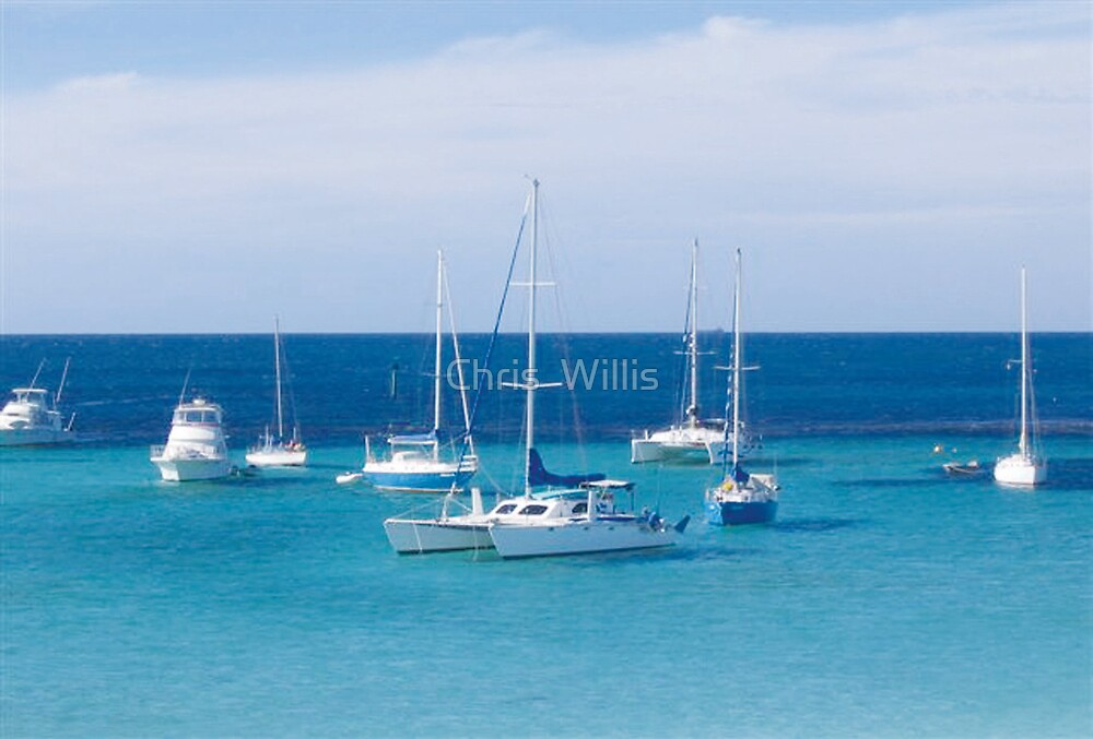 Calm at Rottnest Island by Chris  Willis