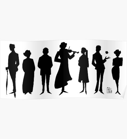 221B silhouettes Poster