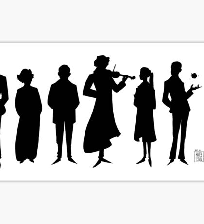 221B silhouettes Sticker