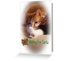 Waiting For Santa Greeting Card