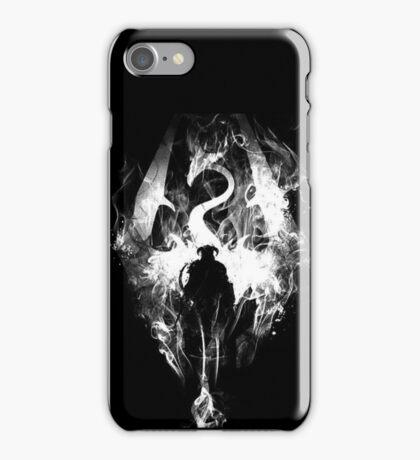 skyrim black warrior  iPhone Case/Skin