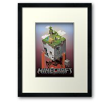 Minecraft - world of blocks Framed Print