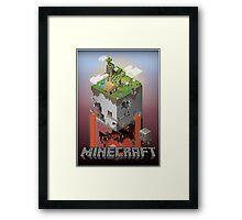 Minecraft - world of blocks Framed Print