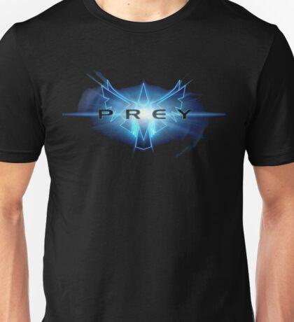 'Prey' game logo in luminescent blue Unisex T-Shirt