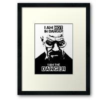 Breaking Bad - Heisenberg - I am the danger! T-shirt Framed Print