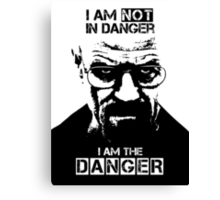 Breaking Bad - Heisenberg - I am the danger! T-shirt Canvas Print
