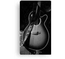 Spotlight Guitar Canvas Print