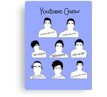 Youtube Crew Canvas Print