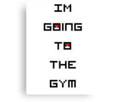 I'm Going to the Gym (Pokemon) Canvas Print