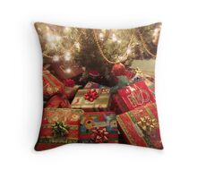 CHRISTMAS EVE - UNDER THE TREE ^ Throw Pillow