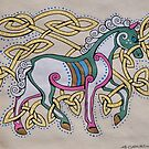 Celtic Unicorn Design by Beth Clark-McDonal