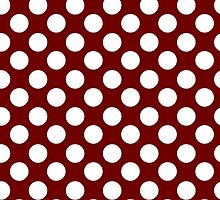 Red and White Polka Dots by giraffoarts