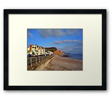 Sidmouth Sea Front Framed Print