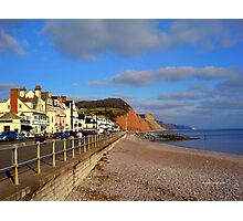 Sidmouth Sea Front Photographic Print