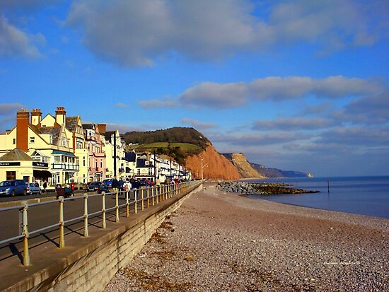 Sidmouth Sea Front by Charmiene Maxwell-Batten