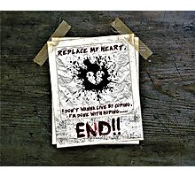 """""""The End"""" Photographic Print"""