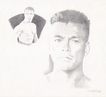 jean claud van dam pencil by willboy