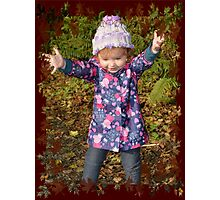 Autumn Leaves and Mucky Puddles! Photographic Print