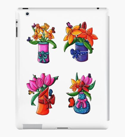 Spring Flowers In Vases iPad Case/Skin