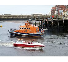 Whitby Lifeboat & Speed Boat Photographic Print