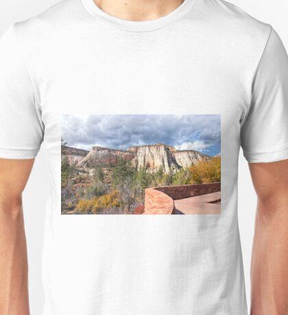 Overlook in Zion National Park Upper Plateau Unisex T-Shirt