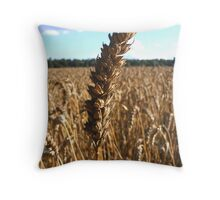 Wheat! Throw Pillow