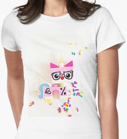 Unikitty Expert Womens Fitted T-Shirt