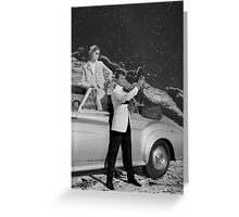 THEY WERE THERE FIRST (BW) Greeting Card