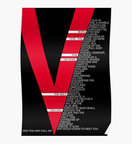 V for Vendetta Speech Poster