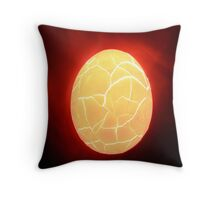 broken egg Throw Pillow