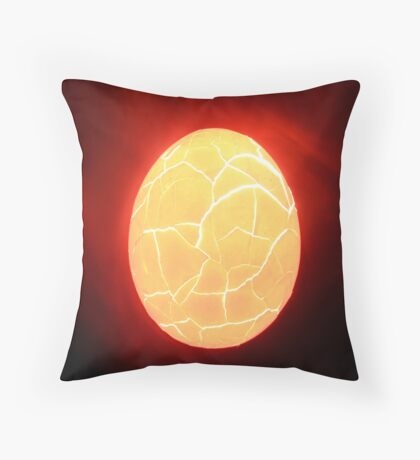 broken egg Throw Pillow