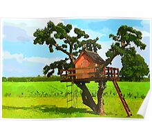 Beautiful creative tree house Poster