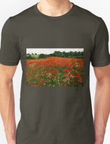 Field of poppies poppy flowers T-Shirt