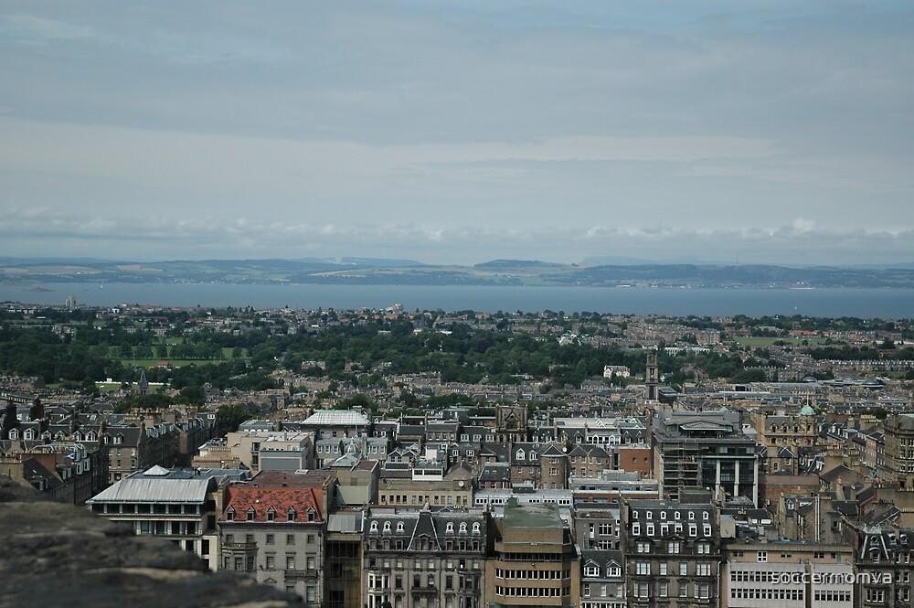View of Edinburgh from Edinburgh Castle, Scotland by soccermomva