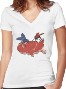 The Two Parties Women's Fitted V-Neck T-Shirt